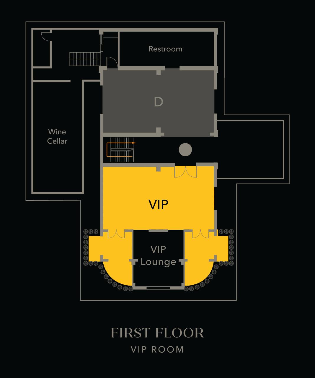 VIP Rooms - First Floor